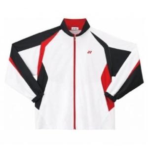 YONEX ジュニア裏地付ウォームアップシャツ ホワイト/レッド 52000J 114 J140【smtb-s】