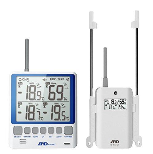 A&D A&D マルチチャンネル温湿度計 AD-5663【smtb-s】