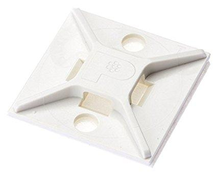 パンドウイットコーポレーション(PANDUIT) パンドウイット マウントベース ゴム系粘着テープ付き 白 ABM2SAD 4036654【smtb-s】