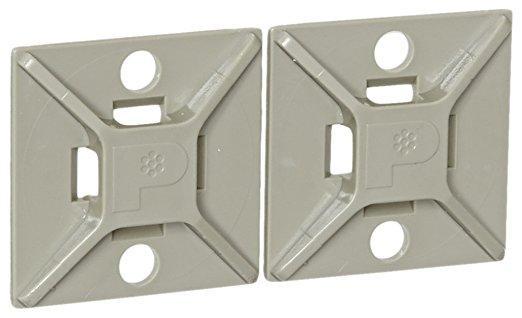 パンドウイットコーポレーション(PANDUIT) パンドウイット マウントベース ゴム系粘着テープ付き テレホングレー ABM2SAD14 4036662