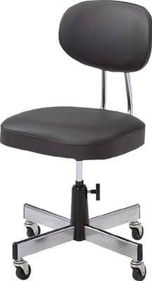 トラスコナカヤマ TRUSCO 事務椅子 ビニールレザー張り ブラック L2095【smtb-s】