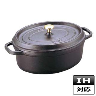シチューパン ストウブ オーバルシチューパン 23cm 黒 102325 IH対応