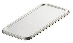 【まとめ買い10個セット品】『 角型バット 調理バット 』 18-8長バット蓋 48型用 48.8cm×29.6cm