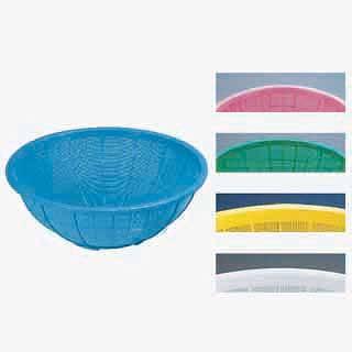 【まとめ買い10個セット品】『 ザル カゴ プラスチック 丸ザル プラスチックざる 60cm 』 サンコーざる 大 グリーン