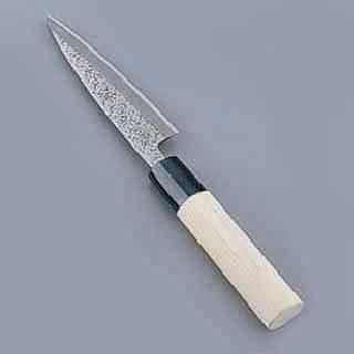 【まとめ買い10個セット品】【 貝サキ包丁 】 槌目 [片刃] 10.5cm 業務用 和包丁