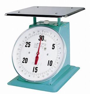 『 業務用秤 アナログ 』フジ 上皿自動ハカリ 特大E型 20kg [平皿付]