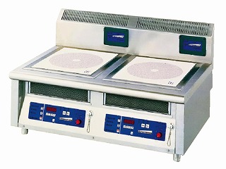 電磁調理器2連卓上タイプ MIR-1035T 【 メーカー直送/代金引換決済不可 】 【 業務用 【 調理機器 】