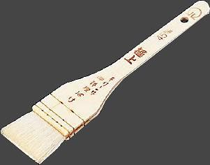 【まとめ買い10個セット品】SA木柄 極上白ハケ(山羊毛) 90mm
