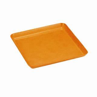 【まとめ買い10個セット品】グラスファイバー製 ハードトレー HD106G オレンジ【 お盆サービストレー 33cm×33cm×H2.3cm 】