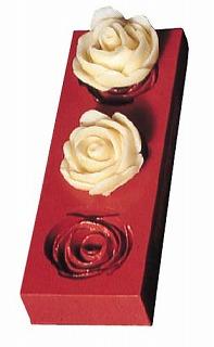『デコレーション器具 お菓子作り』デコレリーフ ゴム製モルド ローズ 0657