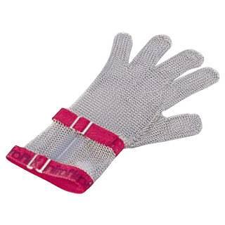 ニロフレックス メッシュ手袋5本指 M C-M5赤 ショートカフ付 【 業務用 【 特殊手袋 】