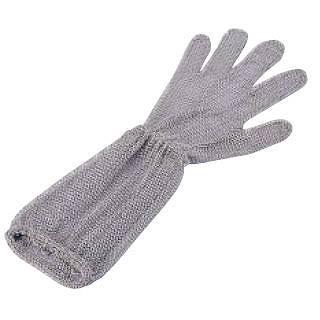 ロングカフ付 メッシュ手袋5本指 L LC-L5-MBO[3] 【 業務用 【 エプロン用品 】