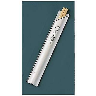 『お弁当 割りばし』割箸 業務用 袋入 茶線 白樺元禄 20.5cm [1ケース100膳×40入]