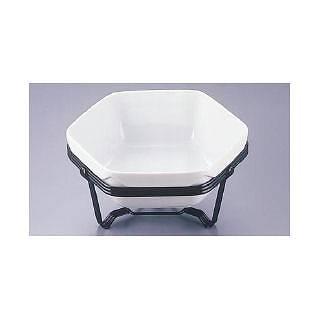 TKGバルドサラダディッシュ スタンドセット 28cm 【 業務用 【 チェーフィングディッシュ バイキング 皿 陶器 サラダバー フードバー 】