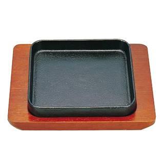 【まとめ買い10個セット品】『 ステーキ皿 』[S] ギョーザ皿 角 IH対応