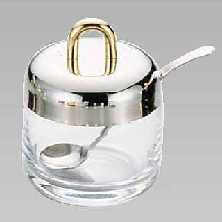 【まとめ買い10個セット品】『 シュガーポット 』ガラス製シュガーポット No.8005