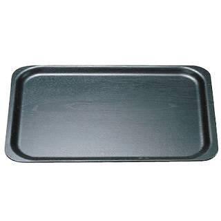 【まとめ買い10個セット品】木製ブラックトレー SB-102B〈小〉【 サービストレー トレイ トレー 盆 木製 テーブルウェア 卓上用品 卓上品 】
