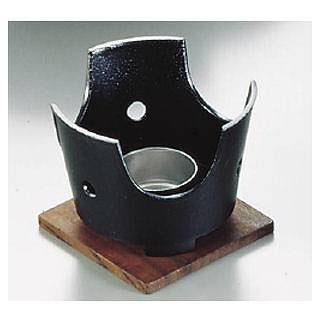【まとめ買い10個セット品】SAやまと鍋コンロセット(アルミ製) 小(15cm・18cm用)【 田舎鍋 】【 卓上鍋関連品 】 【ECJ】