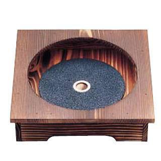 【まとめ買い10個セット品】焼杉ピビンバ器用安全木台・プレートセット (18~20cm用) 【ECJ】