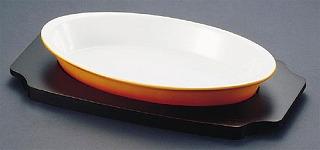 シェーンバルド オーバルグラタン皿 茶 [ツバ付]1011-36B 【 Schonwald オーブンウエア 】