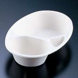 【まとめ買い10個セット品】パルプモールドカレー皿仕切付(50枚入) MZ-2【 アウトドア用品 】 【ECJ】