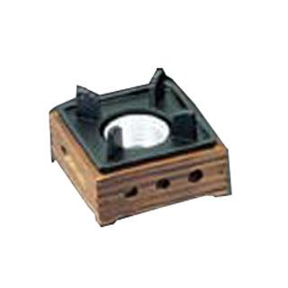【まとめ買い10個セット品】アルミ民芸風こんろ 焼杉 小 M10-779 【ECJ】