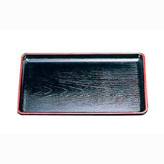 【まとめ買い10個セット品】ケヤキ会席盆 黒天朱 15021460 尺5寸