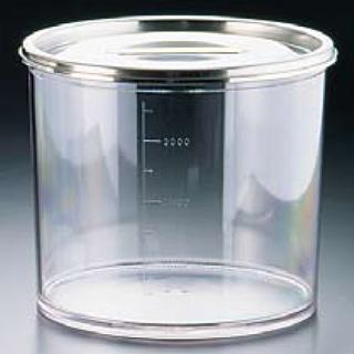 【まとめ買い10個セット品】『 キッチンポット 丸型 』ムラノ ポリカーボネイトキッチンポット 18cm