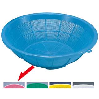 【まとめ買い10個セット品】『 プラスチック 丸ザル プラスチックざる 50cm 』サンコーざる 中 ピンク