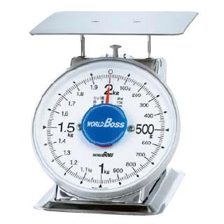 『 業務用秤 アナログ 』サビないステンレス上皿秤 SA-2S 2kg