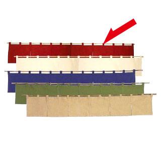【まとめ買い10個セット品】カウンターのれん 綿麻無地 001-09 ボルドー
