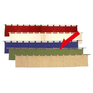 【まとめ買い10個セット品】カウンターのれん 綿麻無地 001-09 緑 【 店舗備品 暖簾 のれん 】