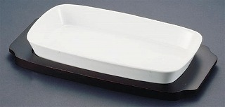 シェーンバルド 角グラタン皿 白 1011-33W