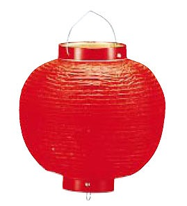 【まとめ買い10個セット品】ビニール提灯丸型 《13号》 赤ベタ b97【 店頭備品 サイン ちょうちん 】 【ECJ】