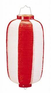 【まとめ買い10個セット品】ビニール提灯長型 《9号》 赤/白 b1 【ECJ】