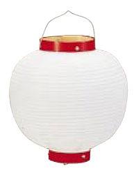 【まとめ買い10個セット品】ビニール提灯丸型 《9号》 白ベタ b48 【ECJ】