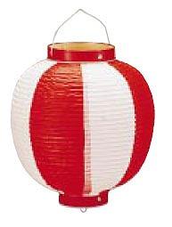 【まとめ買い10個セット品】ビニール提灯丸型 《9号》 赤/白 b40 【ECJ】