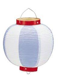 【まとめ買い10個セット品】ビニール提灯丸型 《9号》 青/白 b43 【ECJ】