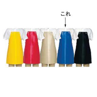 【まとめ買い10個セット品】シャバルバ 6650レザーエプロン ブルー