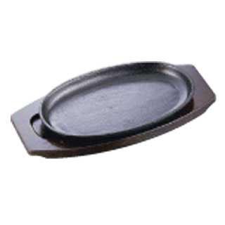 【まとめ買い10個セット品】イシガキ 小判鉄板 ステーキ皿 深型 01-24 24cm IH対応