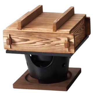 【まとめ買い10個セット品】『 セイロ 蒸籠 蒸し器 』焼杉 角蒸ミニセイロセット 大[湯入付]