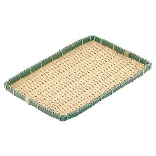【まとめ買い10個セット品】『 ザル カゴ 竹製ザル 』業務用 PP 竹 角型 浅ざる 40型 OT-400-BB