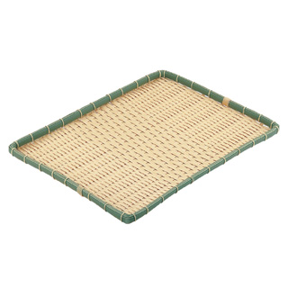 【まとめ買い10個セット品】PP 竹 角型 浅ざる 60型 OT-600-BB