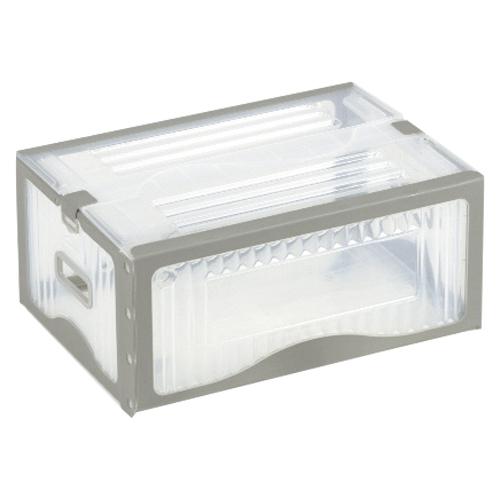 【まとめ買い10個セット品】リスボックス グレー リスボックス25B(LGY/GY) ライトグレー/グレー 1個 岐阜プラスチック工業【ECJ】