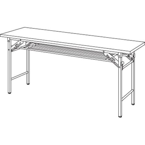 【まとめ買い10個セット品】折りたたみテーブル YKT-1545SE(TE) チーク 1台 【メーカー直送/代金引換決済不可】【ECJ】