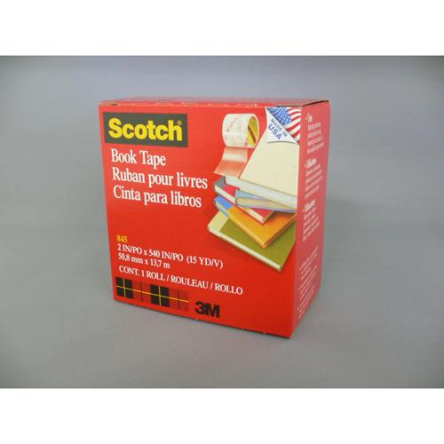 【まとめ買い10個セット品】スコッチ[R] 透明ブックテープ 書籍補修補強用テープ 845 50 1巻 スリーエム【 オフィス機器 製本機 製本用品 ブックテープ 】【ECJ】