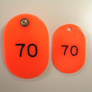 【まとめ買い10個セット品】親子札 2枚1組・スチロール製 CR-OY100-R 赤 50組1セット クラウン【 事務用品 名札 番号札 番号札 】【ECJ】