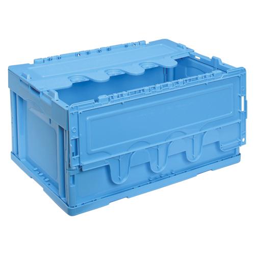 【まとめ買い10個セット品】折りたたみコンテナー フタ付き/青 CF-S41NR(ブルー) 1個 岐阜プラスチック工業【ECJ】
