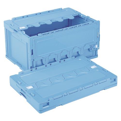 【まとめ買い10個セット品】折りたたみコンテナー フタ付き/青 CF-S76NR(ブルー) 1個 岐阜プラスチック工業【ECJ】