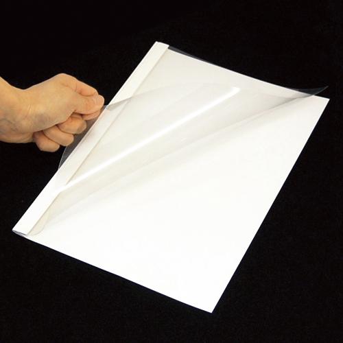 【まとめ買い10個セット品】 とじ太くん[R] 表紙カバー(クリアーホワイトカバー・タテとじ) A4-9P ホワイト 【ECJ】
